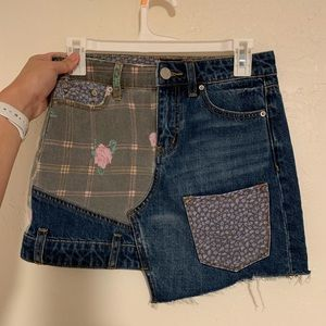 Urban Outfitters skirt, patterned